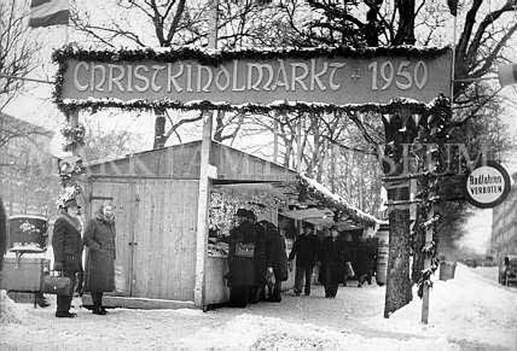 Weihnachtsmarkt Neubau Wien 1950