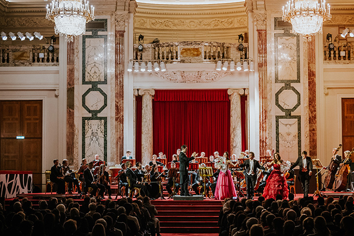 Christmas concert 2018 by the Vienna Hofburg-Orchestra at the Hofburg (Imperial Palace)Vienna