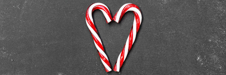Weihnachtsmärkte Wien- ein Herz aus zwei Zuckerstangen