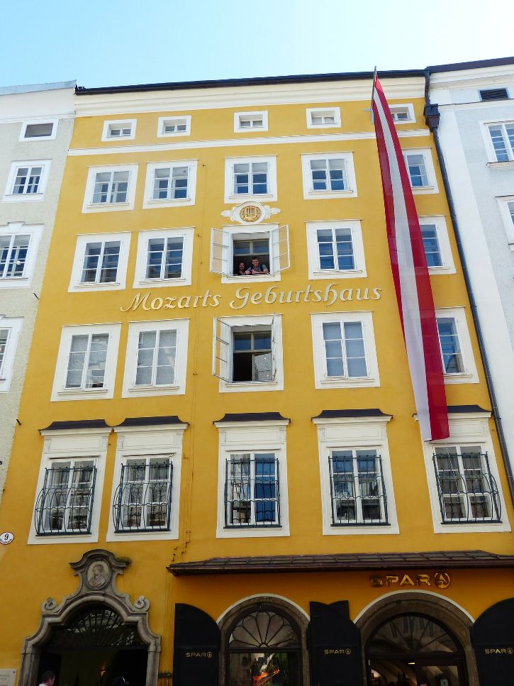 Das Geburtshaus von Mozart in Salzburg