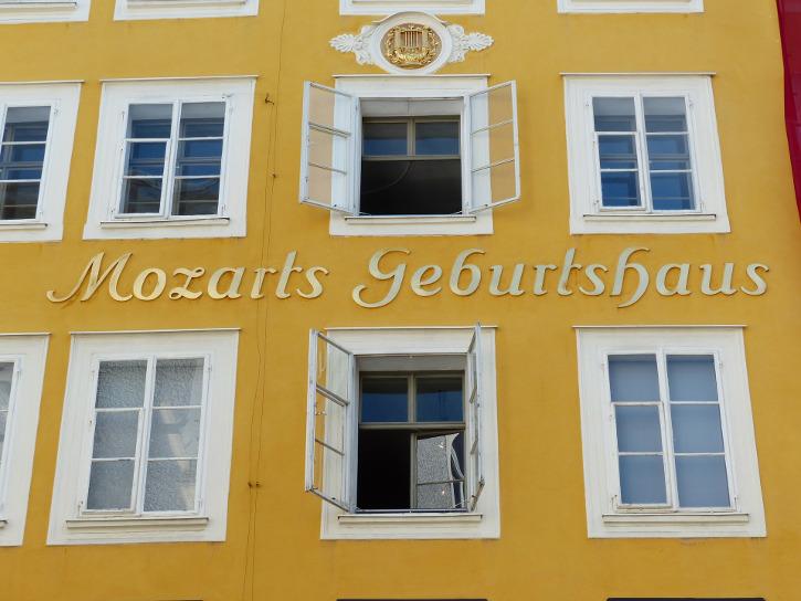 Geburtshaus von Mozart - eine Nahaufnahme