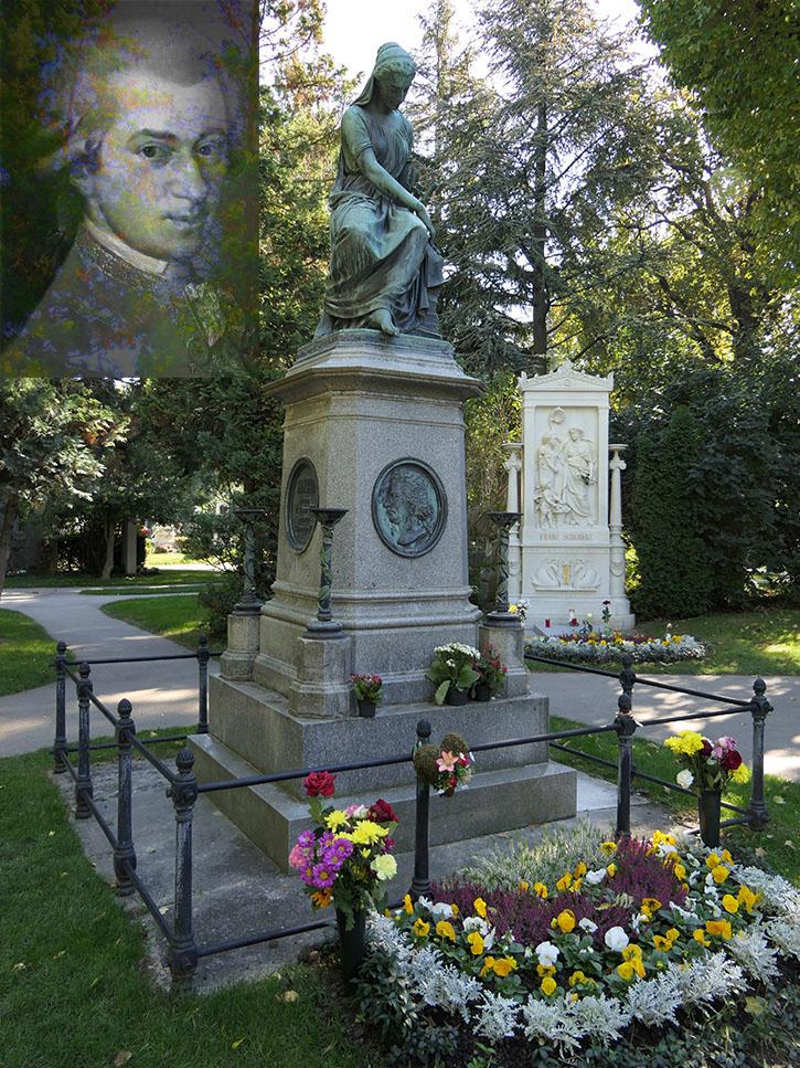 Grabdenkmal Mozart am Zentralfriedhof Wien