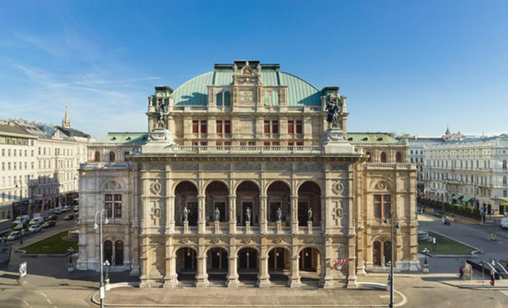 The Vienna State Opera at the Vienna Ringstreet