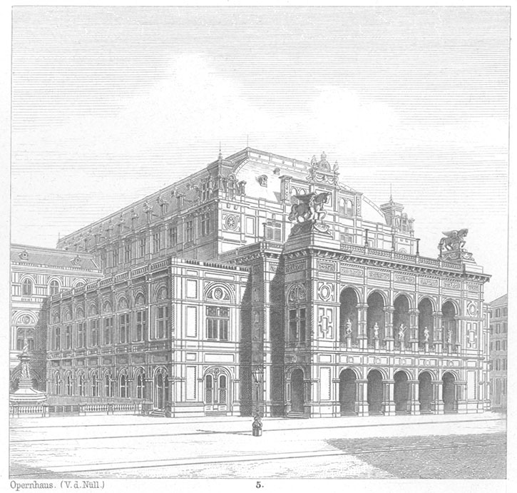 drawing of the Vienna State Opera by its architect, van der Nüll (pic1)