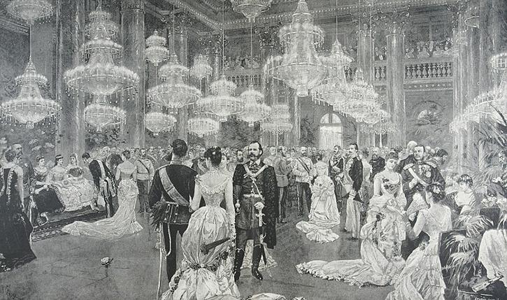 Hofball in Schönbrunn zur Zeit der Monarchie 1918