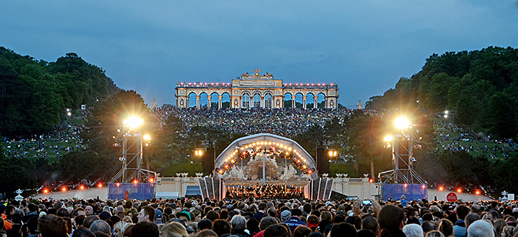 summer night´s concert of Vienna Philharmonics