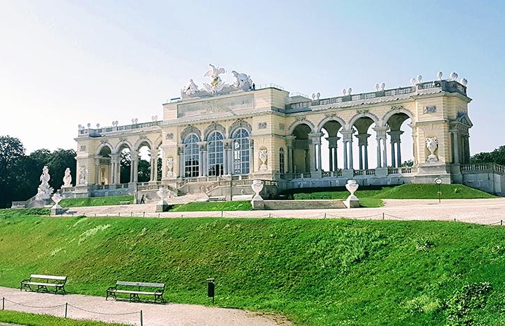 the Gloriette at Schoenbrunn Palace