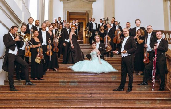 Vienna Hofburg Orchestra at the stairs of Palais Liechtenstein