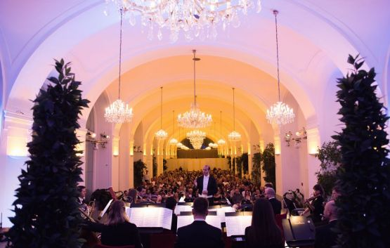 a view of the Concert Hall in the Orangery